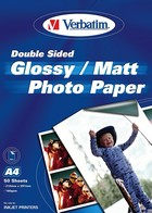 Verbatim 50 vel Glossy Photo paper 180 gr.