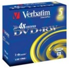 DVD+RW Verbatim 1-4 speed 5 stuks in jewelcase
