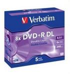 DVD+R Verbatim DL 8,5GB  5 stuks