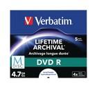 DVD+R Verbatim 4,7GB 5 st MDisc Lifetime Archival