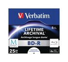 BD-R Verbatim 25GB 5 st. Mdisc Lifetime archival