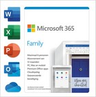 MS 365 Family  (6 licenties, 1 jaar) PC/MAC