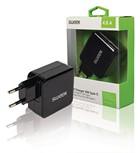 USB lader (2x) 4,8A Sweex C+A