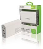 USB lader (4x) 8A Sweex C+A