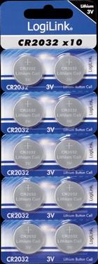Knoopcel batterij CR2032 (10-pack)