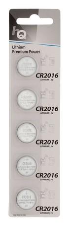 Knoopcel batterij CR2016 (5-pack)