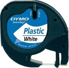 Dymo Letratag 12mm 4m plastic white