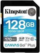 SD kaart 128GB CL10 Kingston Canvas Go! Plus