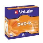 DVD-R Verbatim per 5 Jewel case
